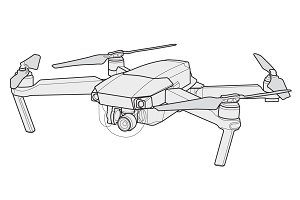 Mavic pro vector drone