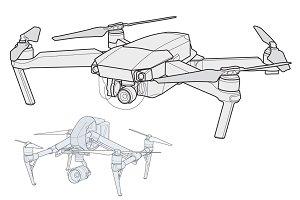 2 Pack-Mavic & Inspire vector drones