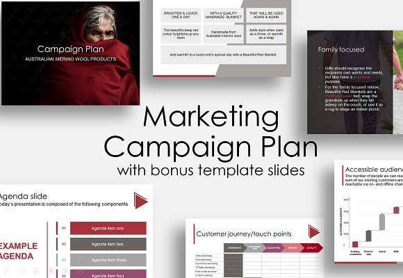 Marketing campaign plan presentation templates for Digital marketing campaign planning template