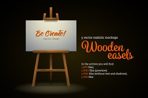 Wooden Easels Set