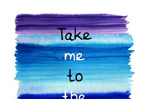 Take me to the ocean card