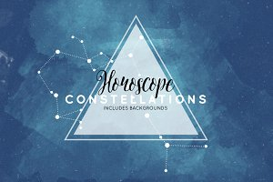 Watercolor Horoscope Constellations