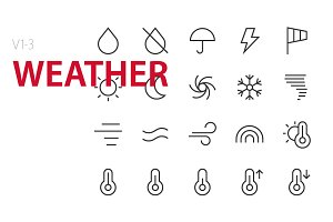 60 Weather UI icons