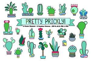 Cactus & Succulents Vector Clipart