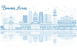 Outline Buenos Aires Skyline