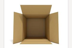 Opened cardboard