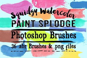 Watercolor Paint Splodge PS Brushes