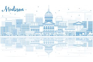 Outline Madison Skyline