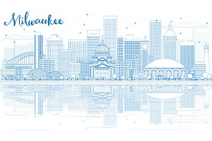 Outline Milwaukee Skyline