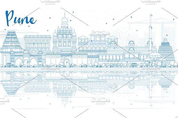 Outline Pune Skyline