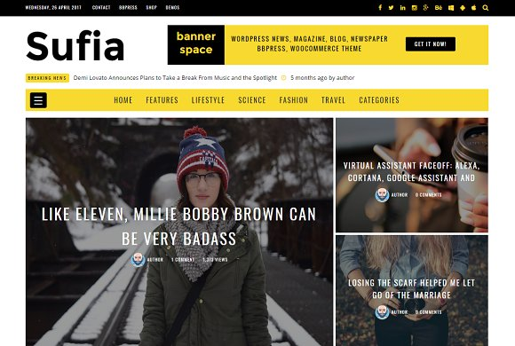 Sufia News Blog Magazine Theme