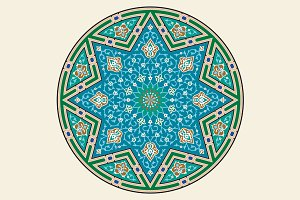 Traditional Arabic Floral Ornament.