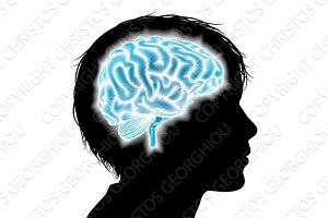 Child brain concept