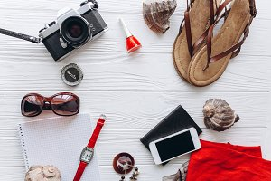 Set of summer women's accessories