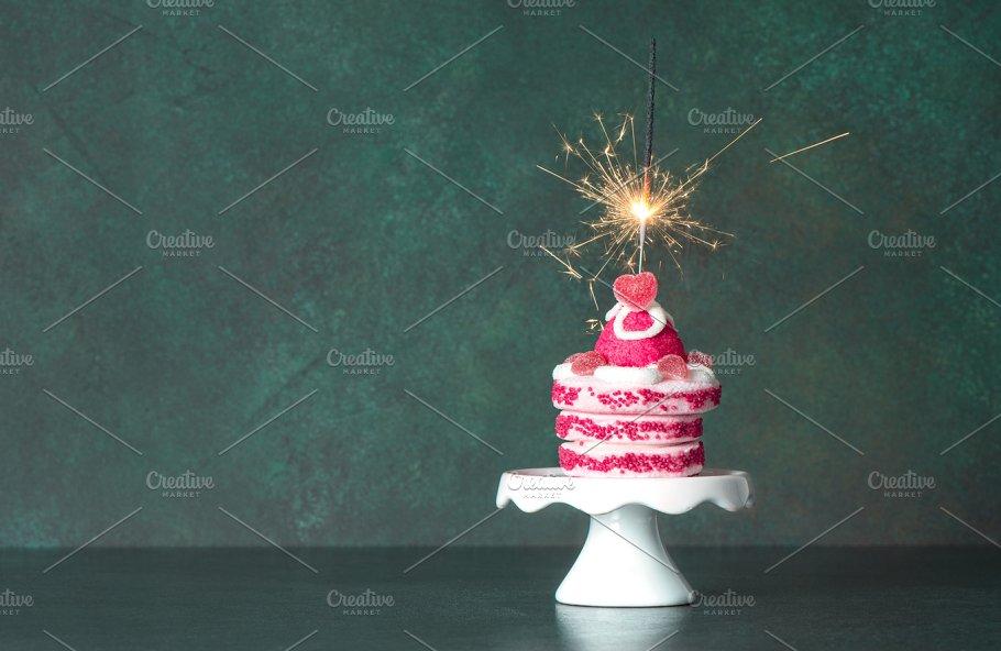 Birthday Cake Sparkler Decoration