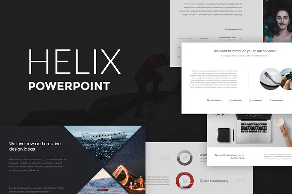 helix powerpoint presentation presentation templates creative market - Powerpoint Design Ideas