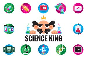 Science King logo kit-1logo & 12Icon