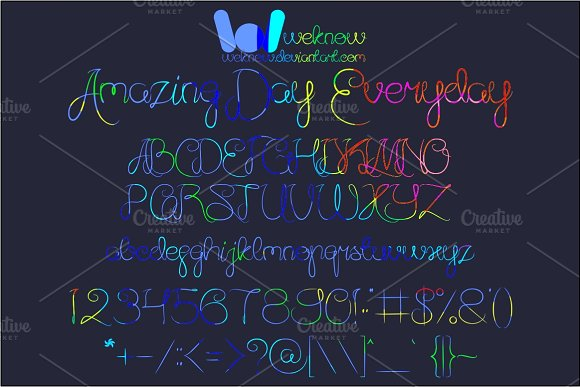 amazing day everyday font