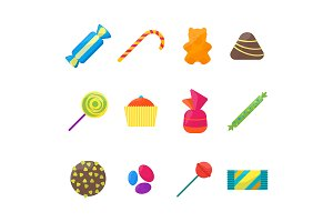Sweet Candies Icons Set