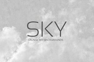 24 Grunge SKY Backgrounds |B/w