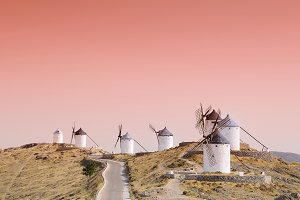 Old windmills.