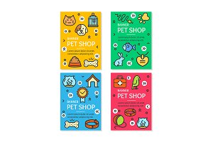 Pet Shop Flyer Banner Card