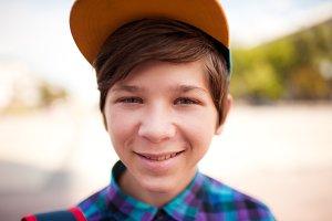 Stylish teen boy