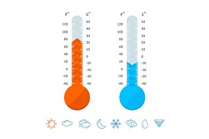 Meteorology Thermometer Set