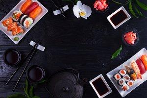 Japanese sushi dish
