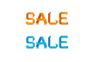 Sale Origami Style Sign. Vector