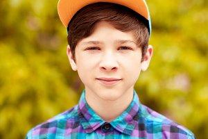 Stylish teenage boy