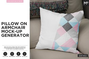 Pillow on Armchair Mock-up Generator