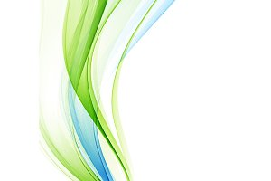 Abstract vector background, blue green wavy