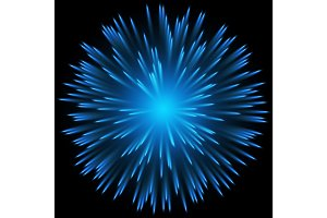 Blue color design with a burst. vector