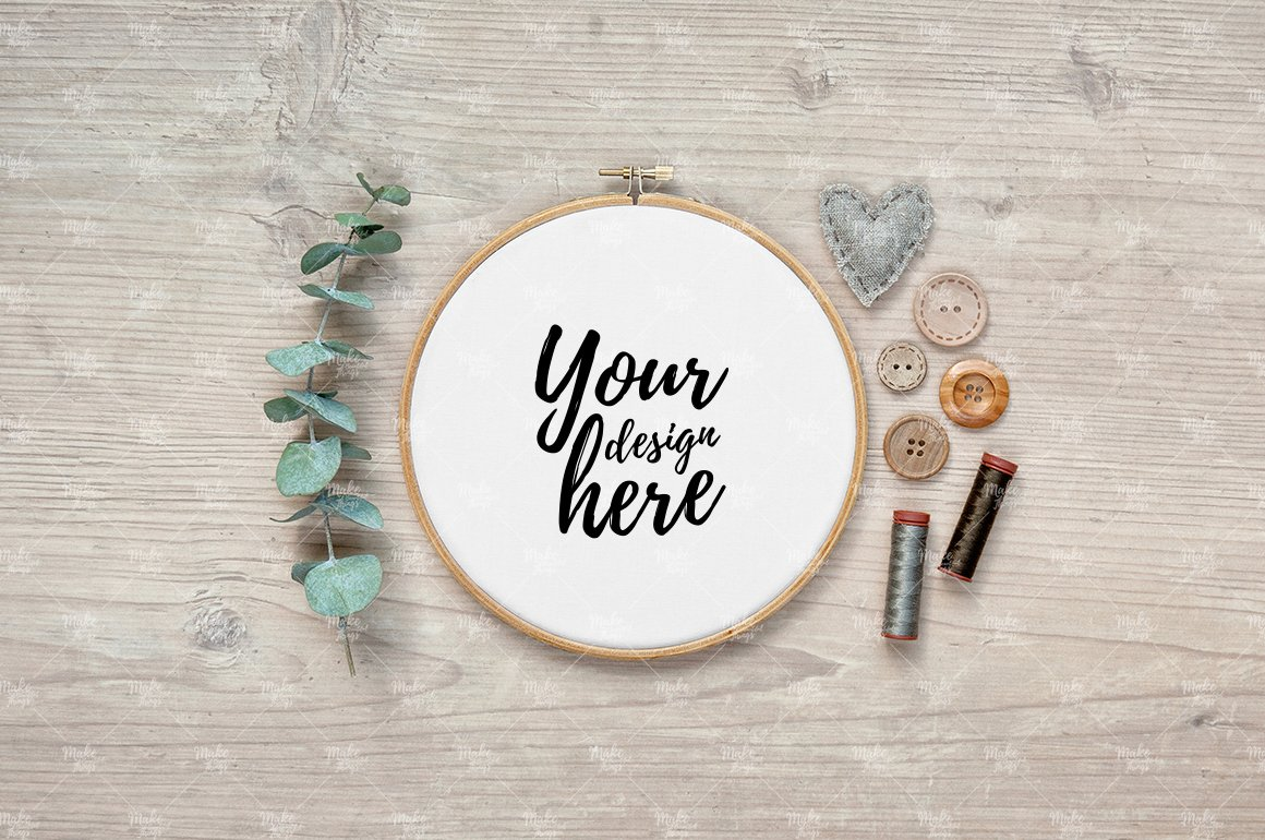Embroidery mock up Photos, Graphics, Fonts, Themes, Templates