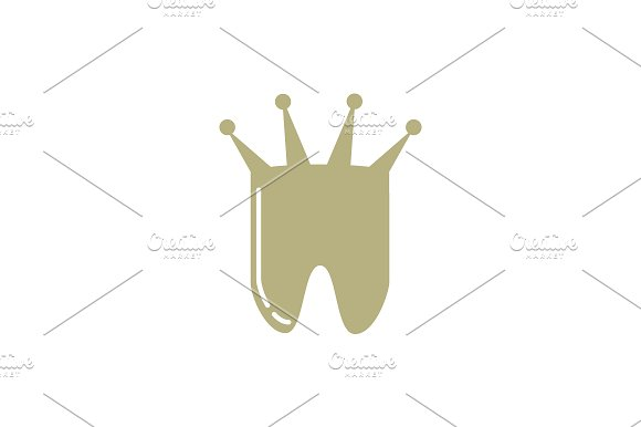 Tooth With Crown Logo