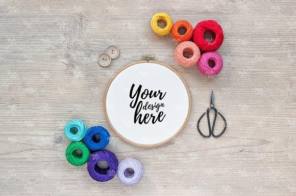Download Embroidery hoop mockup / #4081