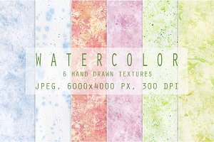 Set of watercolor textures