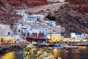 Ammoudy bay in Santorini.