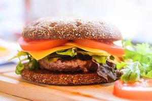 DIY beef burger