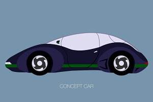 concept retro future car