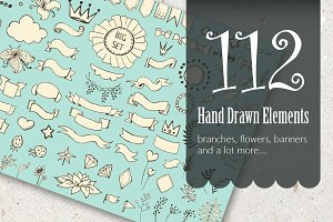 Hand Drawn Elements. Vector pack