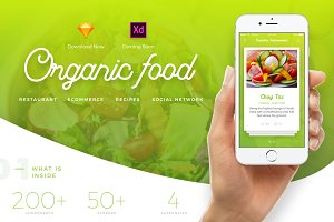 Organic Food UI Kit - 4 in 1