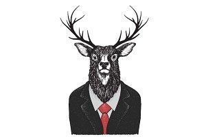 Serious deer)
