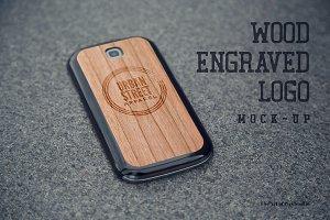 Wood Engraved Mock-Up