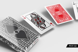 Poker Card Playing Mockups