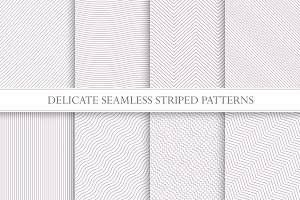 Delicate seamless striped patterns.