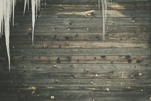 Wood Planks and Icicles