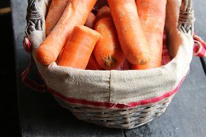 Carrot in the basket