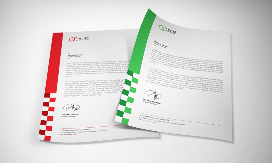 Letterhead 4 with docx stationery templates creative market spiritdancerdesigns Images